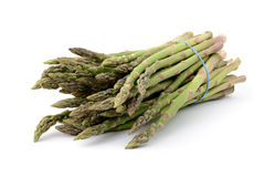 Asparagus. Close-up of asparagus on white background, isometric view Stock Photo