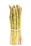 Asparagus. One vertical bunch of fresh green asparagus. On white Royalty Free Stock Photo