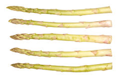 Asparagus. Fresh green asparagus. Isolated on white Royalty Free Stock Photography