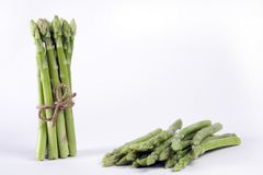 Asparagus. Bundle of  asparagus isolated on a white background Royalty Free Stock Images