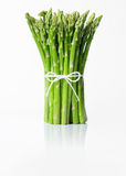 Asparagus. Bunch of asparagus isolated on white background royalty free stock photo