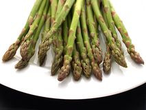 Asparagus. Plate of asparagus Royalty Free Stock Image