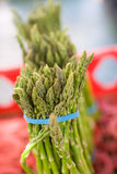 Asparagus. Bunch of asparagus at a farmers market royalty free stock photography