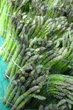Asparagus. Bunches of asparagus at the farmer's market stock photo
