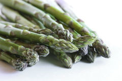 Asparagus against a white background Royalty Free Stock Photos