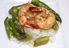 Asparagus And Shrimp Royalty Free Stock Photos