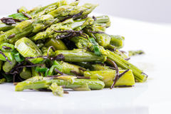 Asparagus appetizer Royalty Free Stock Images