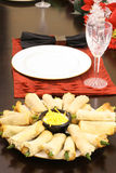 Asparagus appetizers Royalty Free Stock Photo