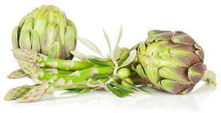 Asparagus and artichoke Stock Image