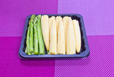 Asparagus and baby corn. Stock Image
