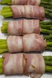 Asparagus with bacon Stock Photo