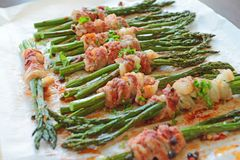 Asparagus with bacon Royalty Free Stock Photos