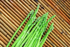 Asparagus on basket wood brown Royalty Free Stock Photo