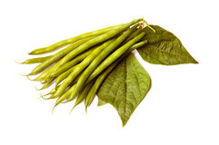 Asparagus bean on white Stock Photos