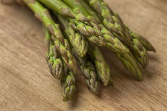 Asparagus on board Stock Photo