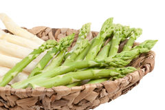 Asparagus in bowl Royalty Free Stock Photo