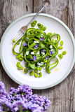 Asparagus and broad bean salad Royalty Free Stock Photos
