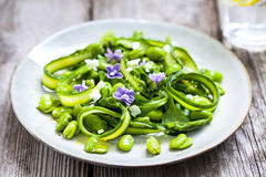Asparagus and broad bean salad Stock Photography