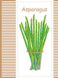 Asparagus bunch card Stock Image