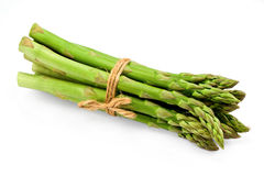 Asparagus Bunch On White Royalty Free Stock Image