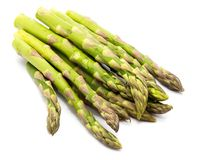 Asparagus. Bunch of raw asparagus isolated on white backgroundn Stock Photography