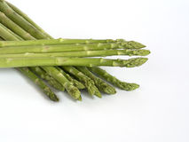 Asparagus. A bunch of Asparagus on white background Royalty Free Stock Photo