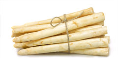 Asparagus bunched on white Royalty Free Stock Image