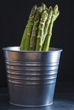 Asparagus bundle on a black background Stock Photo