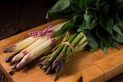 Asparagus bundle Stock Photos