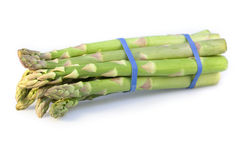 Asparagus bundle on white Stock Photos