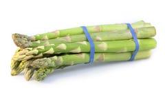 Asparagus bundle on white Stock Photos