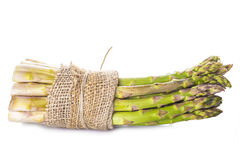 Asparagus bundle on a white background Royalty Free Stock Image