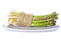 Asparagus bundle on a white background Stock Photography