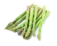 Fresh Asparagus Bundles. Asparagus Bundles  close-up  on white background Royalty Free Stock Photography
