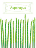 Asparagus Card Royalty Free Stock Images