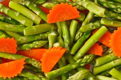Asparagus and carrot Royalty Free Stock Photo