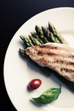 Asparagus Chicken and Basil Royalty Free Stock Photos