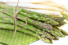 Asparagus  in close up Royalty Free Stock Photography