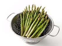 Asparagus in Colander Stock Photo