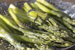 Asparagus cooked steamed Stock Photo