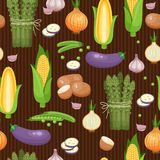 Asparagus, corn and peas seamless background Royalty Free Stock Photo