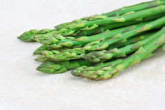 Asparagus macro of tips Royalty Free Stock Image