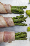 Asparagus with bacon Stock Photography