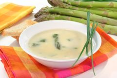 Asparagus cream soup Royalty Free Stock Photography