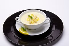 Asparagus cream soup Royalty Free Stock Images