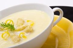 Asparagus cream soup Stock Image