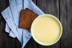 Asparagus cream soup Royalty Free Stock Photos
