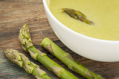 Asparagus cream soup Royalty Free Stock Photos