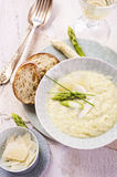 Asparagus Creme Soup Royalty Free Stock Images