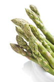 Asparagus. In the cup on white background Royalty Free Stock Images